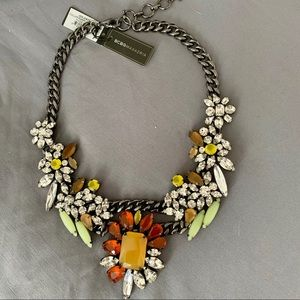 BCBG Roxy Floral Jeweled Statement Necklace